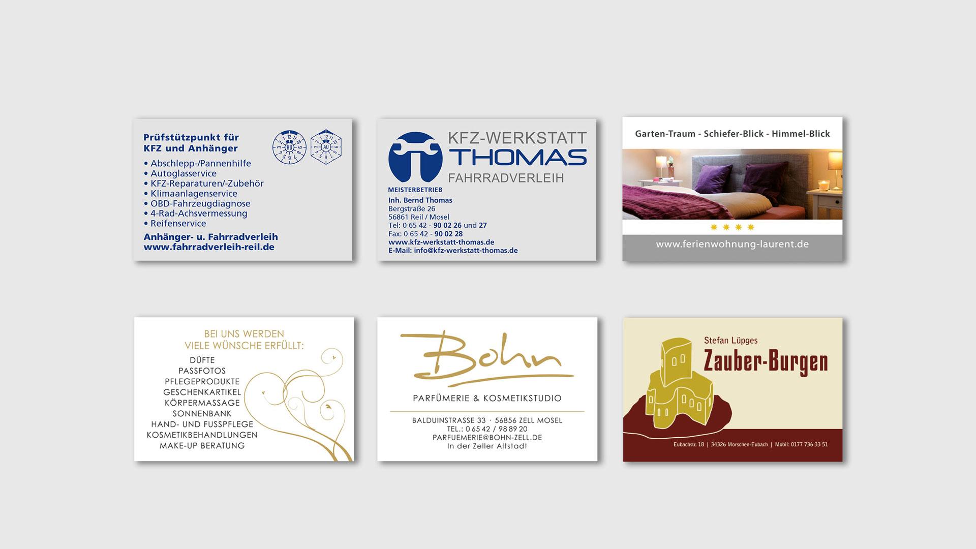 Visitenkarten Thomas KFZ Werkstatt